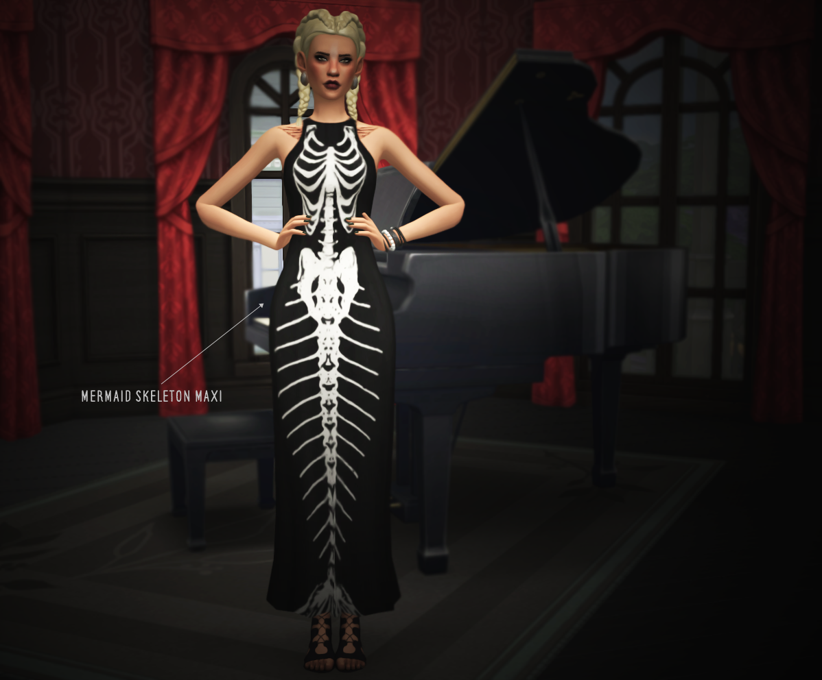 my sims 4 blog modern goth clothing for females by slythersim