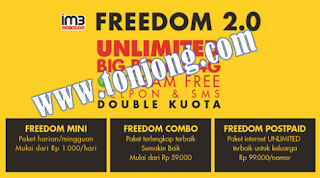 Cara Daftar ,Registrasi Paket Freedom Mini Indosat Ooredoo