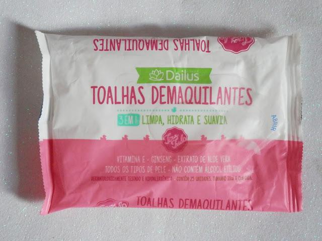 Resenha: Toalha demaquilante 3 em 1 da Dailus
