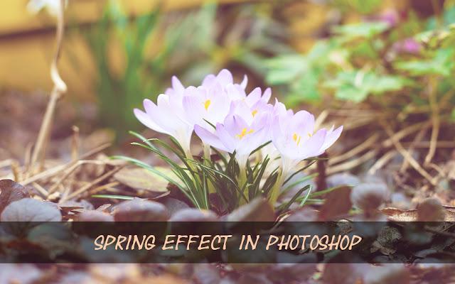 Весенний фотоэффект в Фотошопе