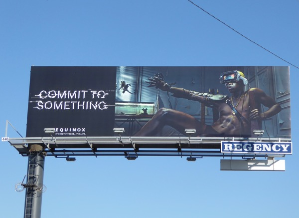 Commit to Something Equinox virtual reality billboard