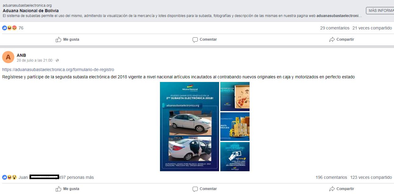 Ciberdelincuentes abrieron página web y cuenta de Facebook para atrapar a incrédulos / CAPTURA PANTALLA