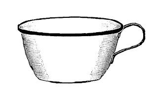 coffee mug image antique illustration digital download