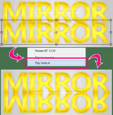 Membalik-tulisan-menggunakan-Flip-Vertical-pada-Transformation-Tool
