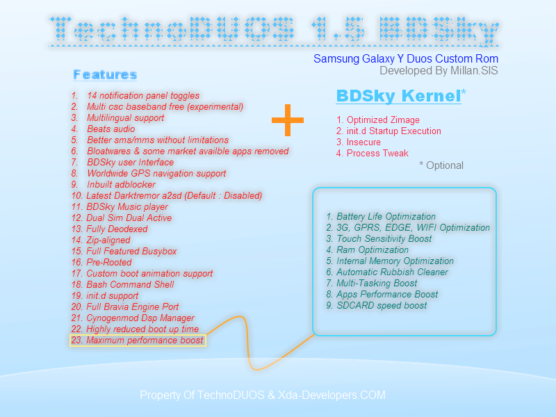 TechnoDUOS [ Custom ROM + Kernel ] For Galaxy Y Duos GT-S6102 [1.5 BDSky STABLE]