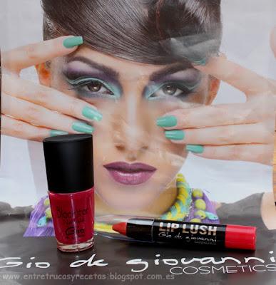 Esmalte Black Star y Lip Lush Gio de Giovanni