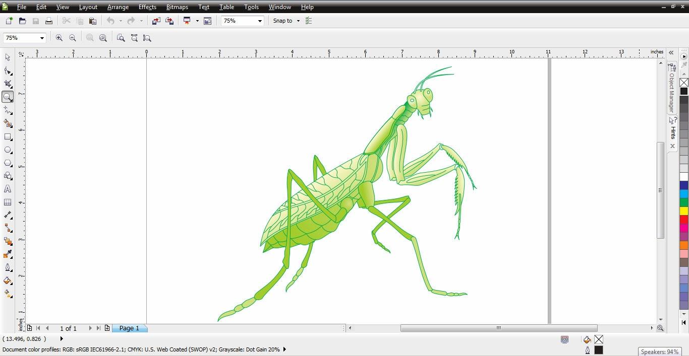 Download Sketsa Gambar Belalang Sembah