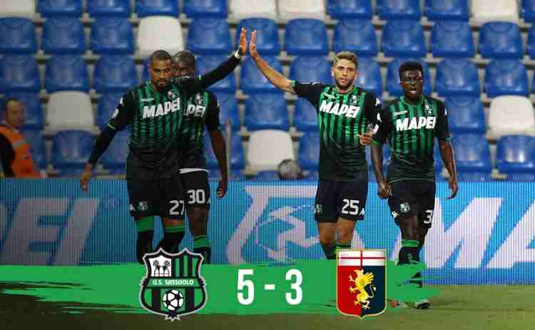 Hasil Sassuolo vs Genoa Skor Akhir 5-3 [Serie A 2018]