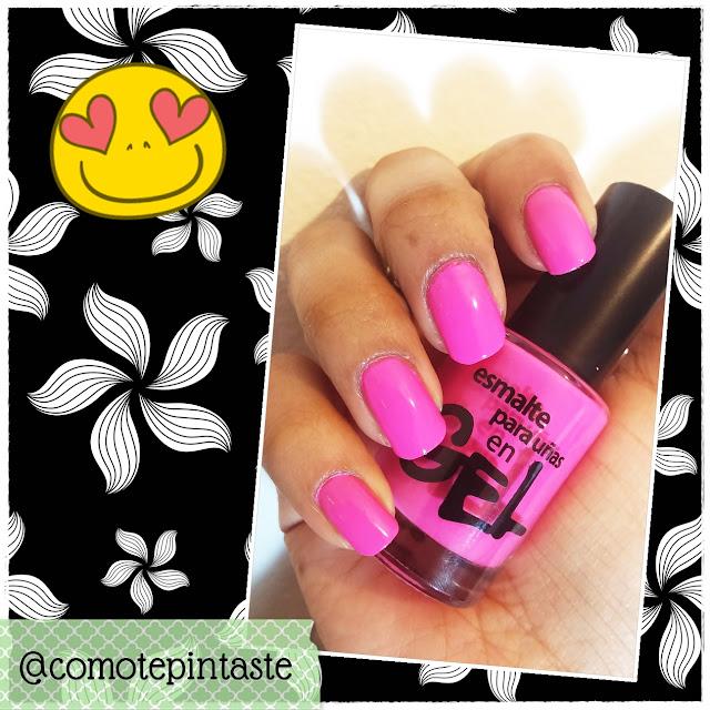 Esmalte rosa para uñas Millanel Efecto Gel