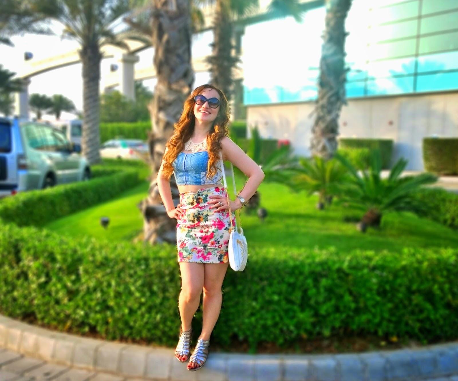 Bralet & Floral Skirt