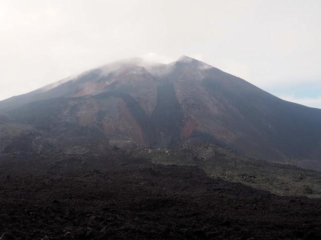 The crater of Pacaya volcano, near Antigua, Guatemala
