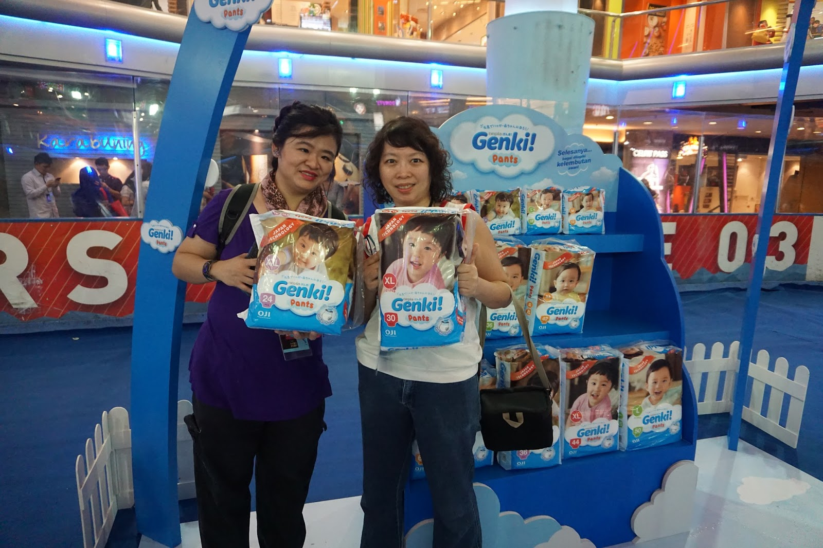 5 Little Angels Genki Launches New Diaper Pants On Mothers Day Nepia L 30 Me And Mommy Sherry With A Pack Of The Pant For Boy Girl Each
