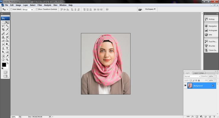 Cara Mengubah Background Pas Foto dengan Photoshop