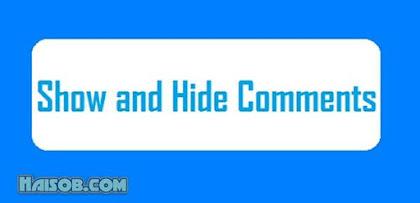 "Cara memasang tombol ""Show hide"" pada komentar di Template Blogger"