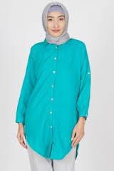 Model Baju Kemeja Kerja Wanita Lengan Panjang Muslim