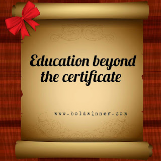 education beyond certificates