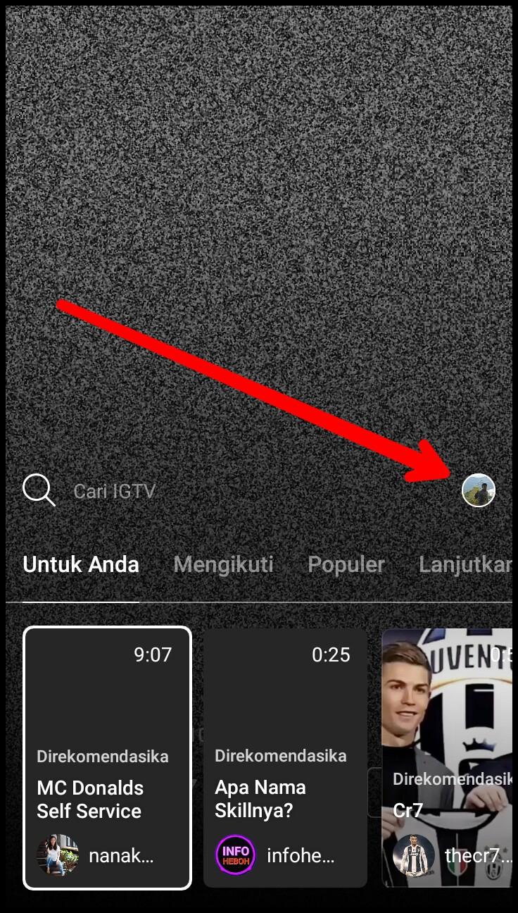 cara upload video di igtv