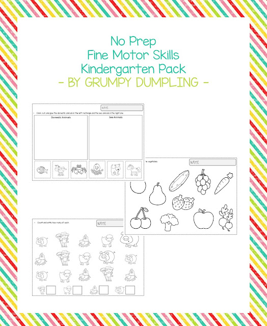 https://www.teacherspayteachers.com/Product/No-Prep-Worksheets-for-Fine-Motor-Skills-K-1st-2729326