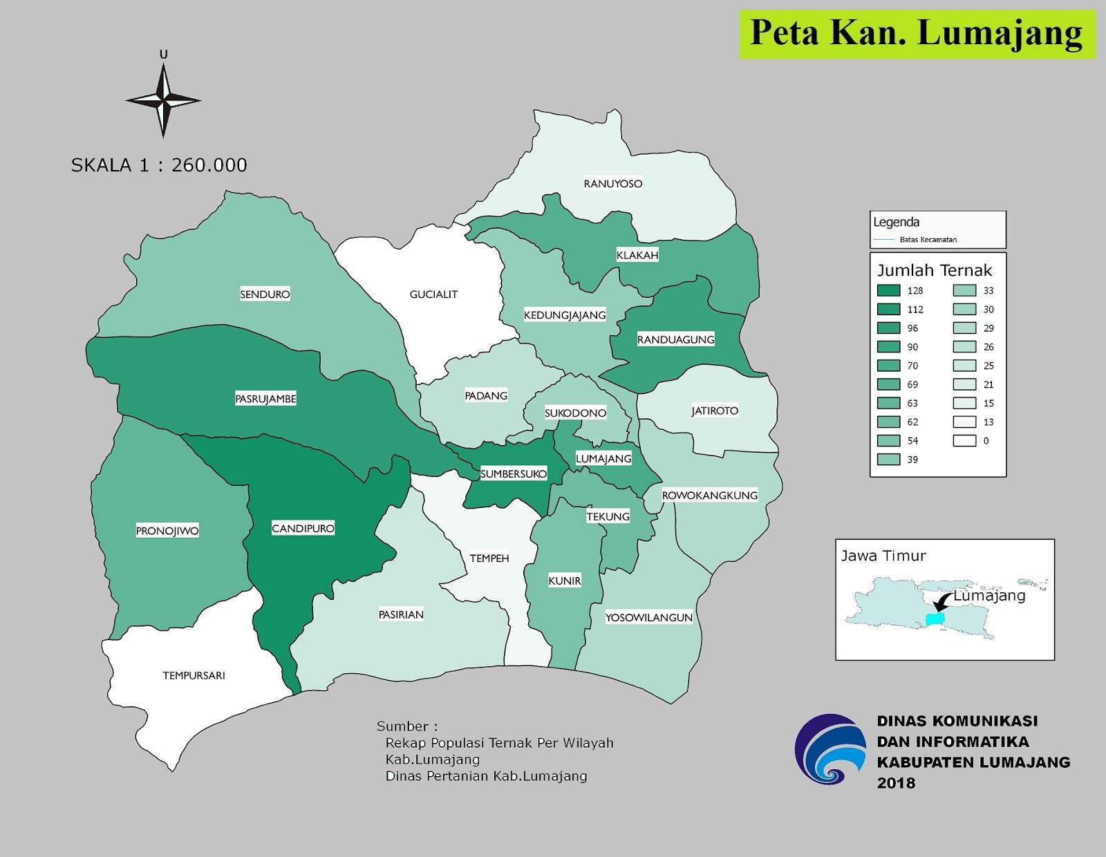 Peta Kabupaten Lumajang
