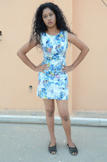 Actress Priyankha Stills in Floral Short Dress at Golmal Gullu Movie Pressmeet  0345