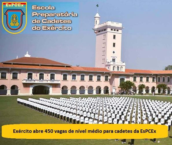 Exército abre 450 vagas de nível médio para cadetes da EsPCEx