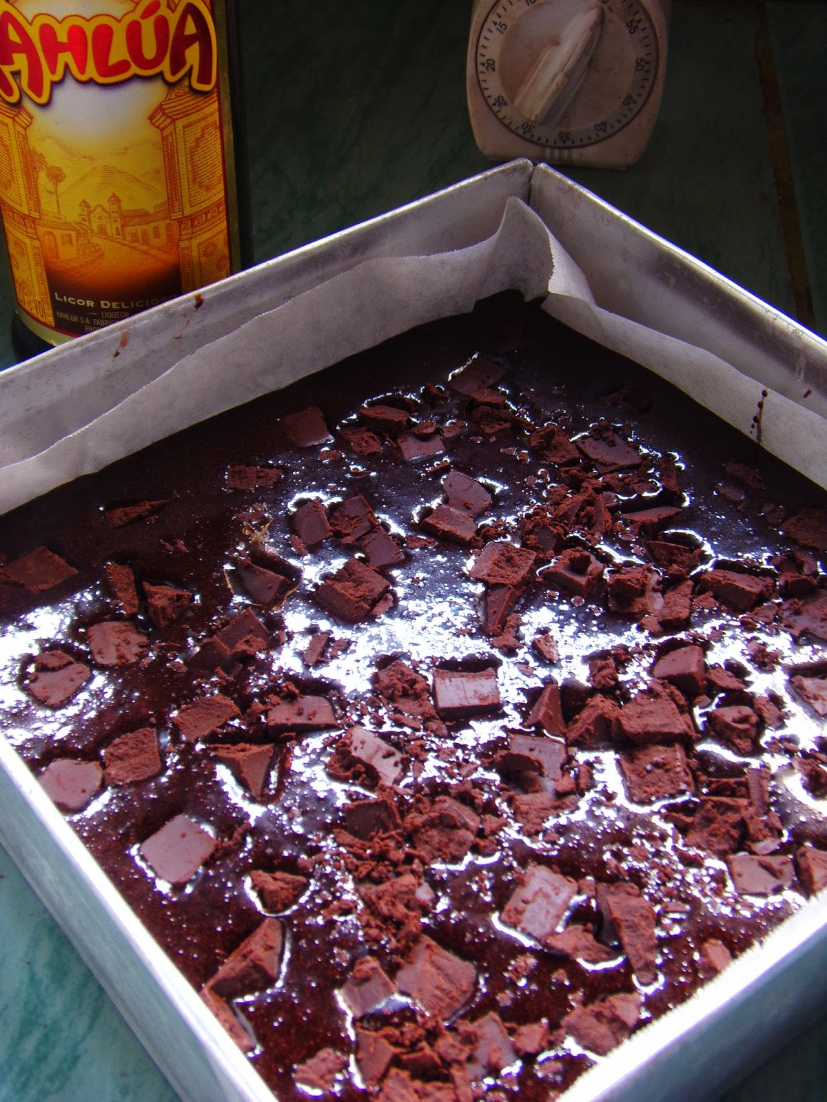 Kahlua Fudge Brownies -