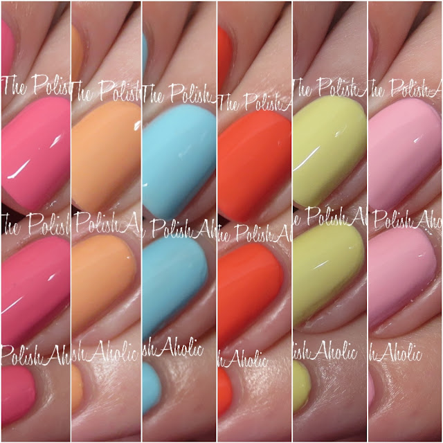 Bright Colors Gel Nail Designs