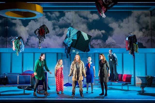 Jonathan Dove: Flight - Leila Zanette, Alexandra Oomens, Alexander Simpson, Flora MacDonald, Frances Gregory, Aoife O'Connell - Royal Academy Opera (Photo Robert Workman)