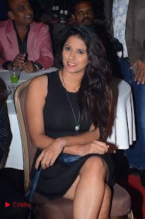 Telugu Tollywood Actress Shravya Reddy Stills in Black Short Dress at Shiva to Vangaveeti RGV Journey Event  0004.jpg