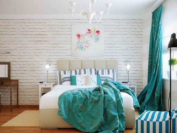Dormitorios juvenil color turquesa y blanco : decoración del hogar ...