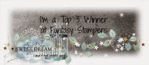 I won at Fantasy Stampers 15th March & 21st June 2015