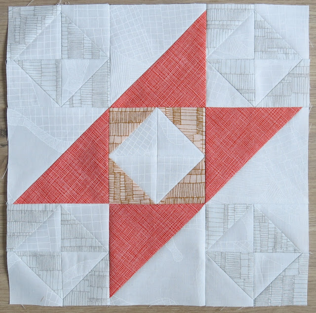 HST Quilt-Along - Block #16 Whirly Gig - Carolyn Friedlander fabrics