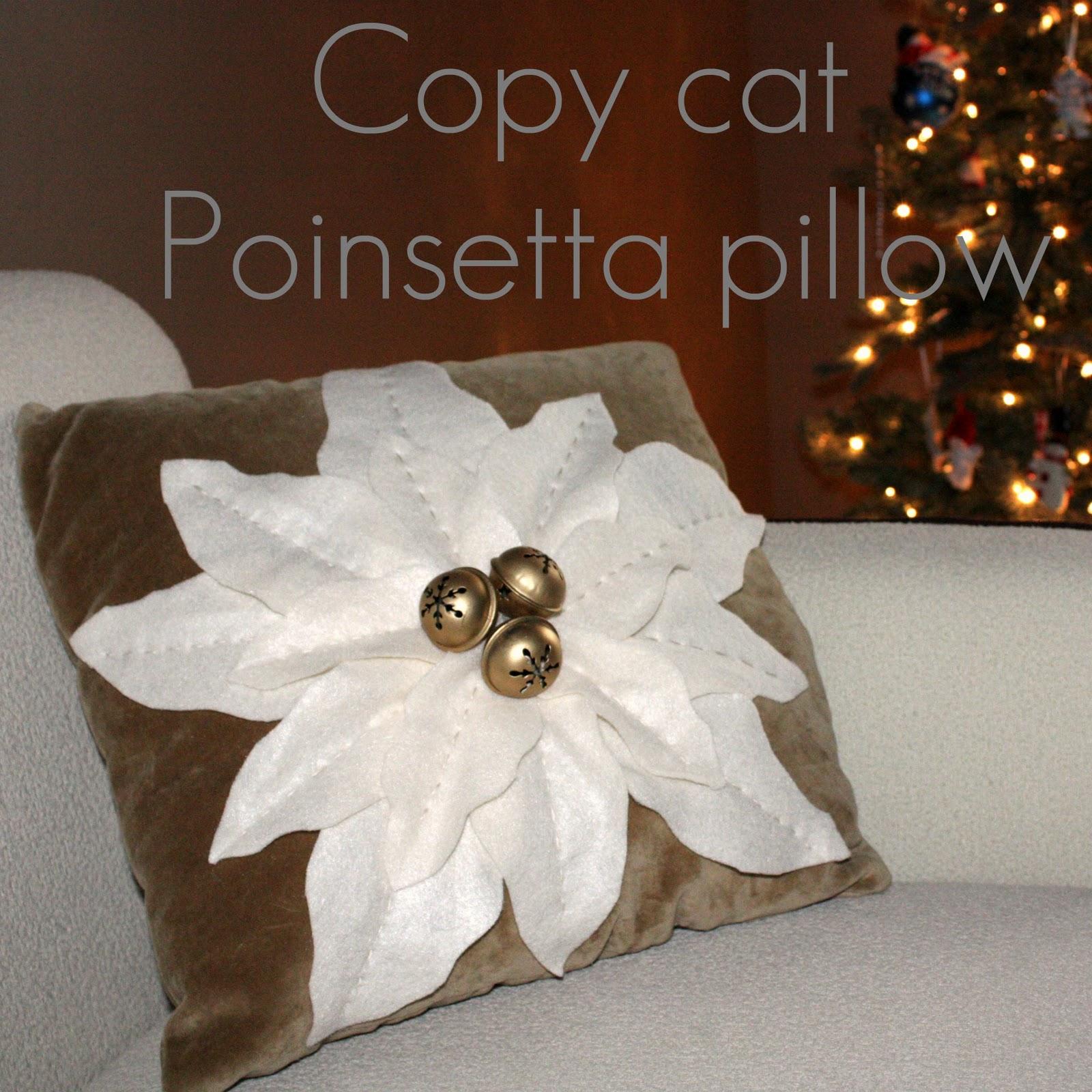 As You Sew So Shall You Rip Poinsettia Pillow Tutorial