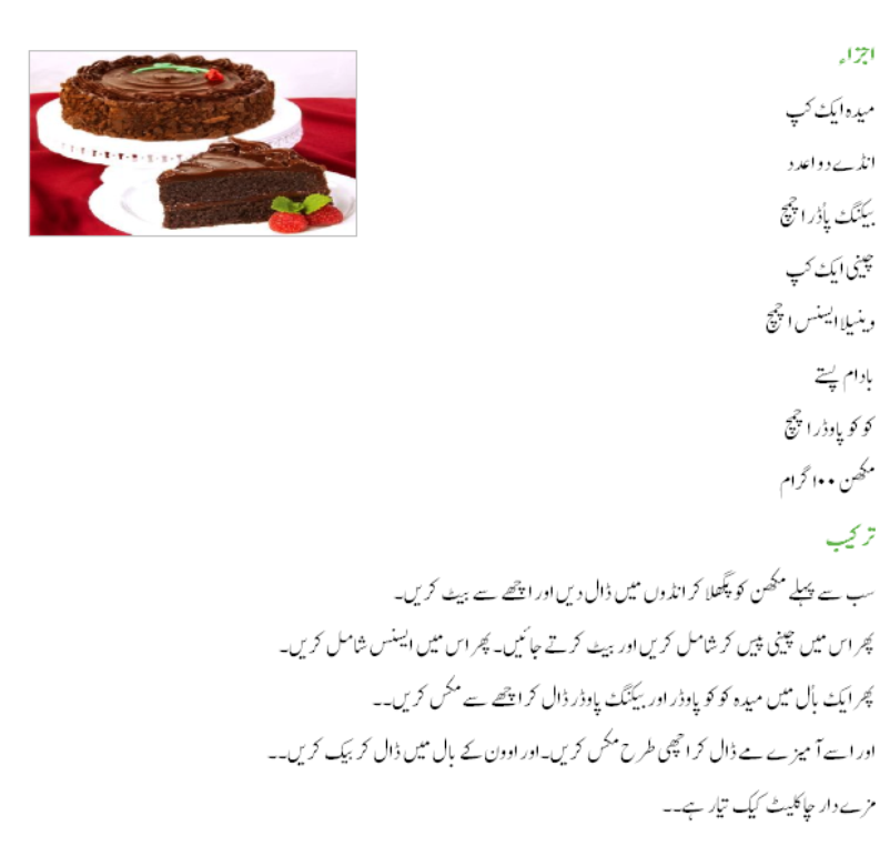 Urdu Recepies 4u Birthday Cake Recipe In Urdu