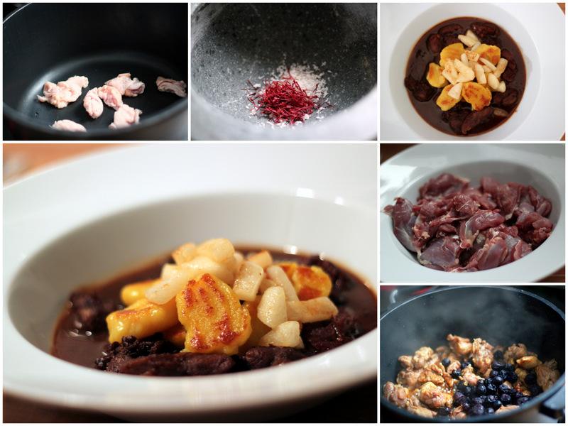 Entenragoût aus der Keule mit Cranberries, Safrangnocchi mit karamellisierter Nashi | Arthurs Tochter Kocht von Astrid Paul