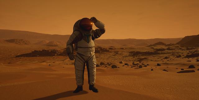 Mars 2030 VR image - astronaut on Mars