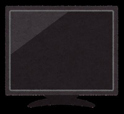 何も映っていないテレビのイラスト(黒)