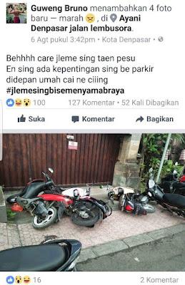 motor di robohkan yang punya rumah, malah marah di media sosial.