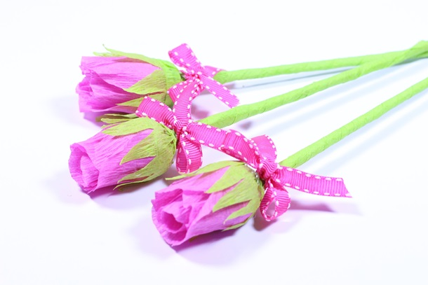 rosas de papel crepom