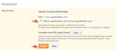 cara custom domain blogspot menjadi domain pribadi