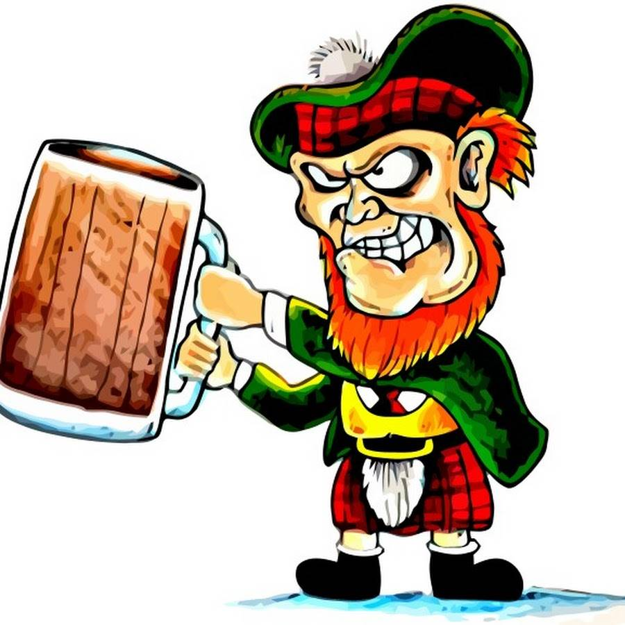 Angry-Scotsman-in-kilt-with-pint-cartoon