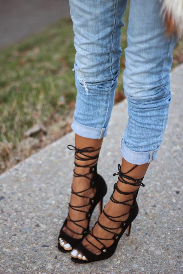 Style Nina Lace Up Heels