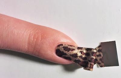 step 5 apply gel polish strip to nail