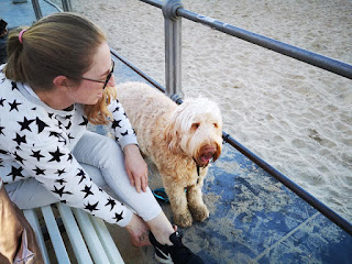 my daughter with dog Filou
