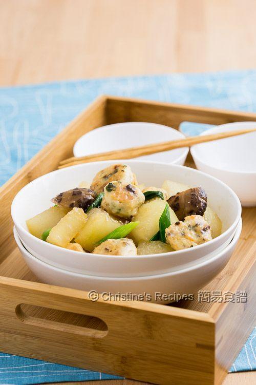 釀豆腐泡炆冬瓜 【巧手小菜】 Braised Winter Melon with Stuffed Tofu Puffs   簡易食譜 - 基絲汀: 中西各式家常菜譜