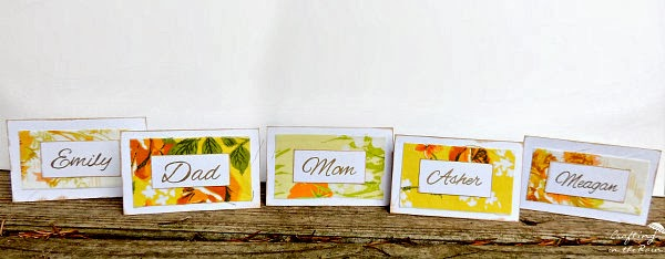 Gold Lettered Placecards | Crafting in the Rain