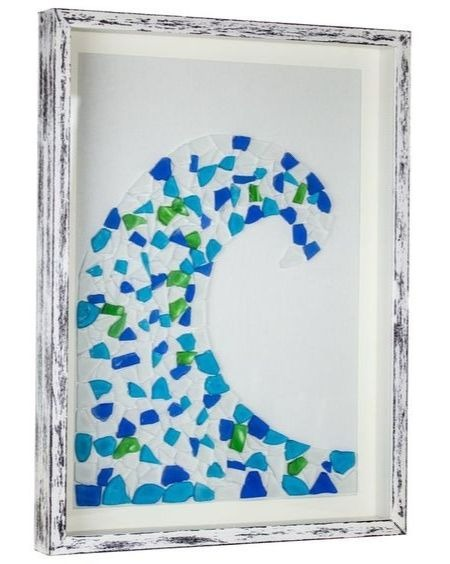 Sea Glass Mosaic Ocean Wave