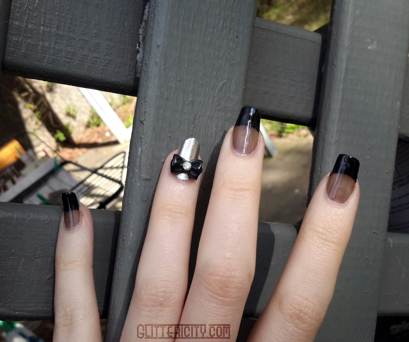 Glittericity: Sheer Black French with Silver \