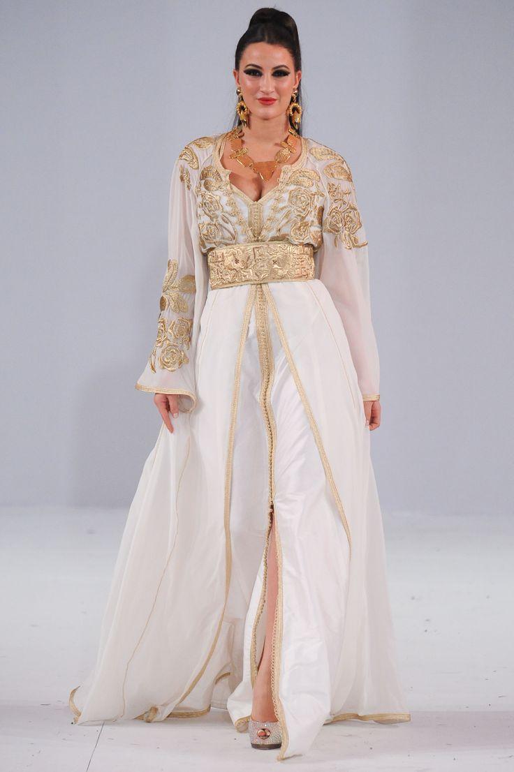 Caftan Blanc 2018   Catalogue Caftan Marocain Luxe - Boutique Caftan ... 90d96b89094