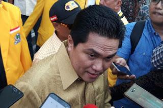 Ketua Tim Kampanye Nasional Joko Widodo-Maruf Amin, Erick Thohir di Kemayoran, Jakarta Pusat, Minggu (21/10/2018). Kompas.
